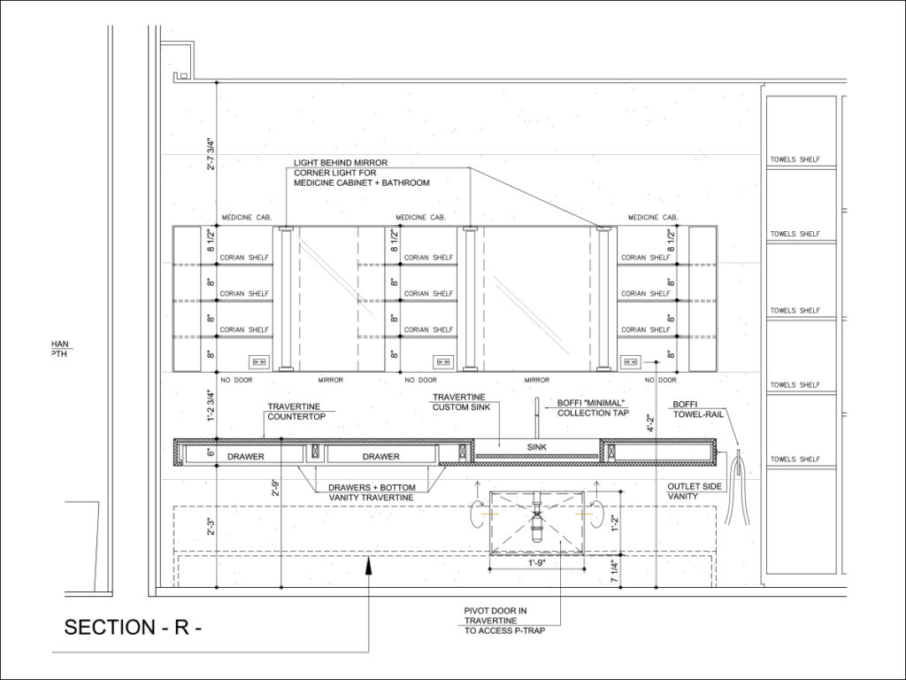 Private PH Residence Miami blueprint