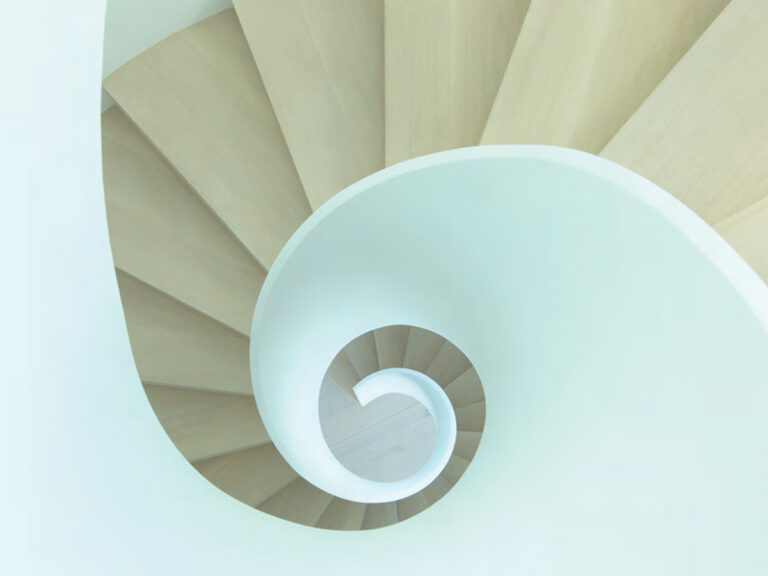 Continuum PH Miami residence spiral staircase view from above
