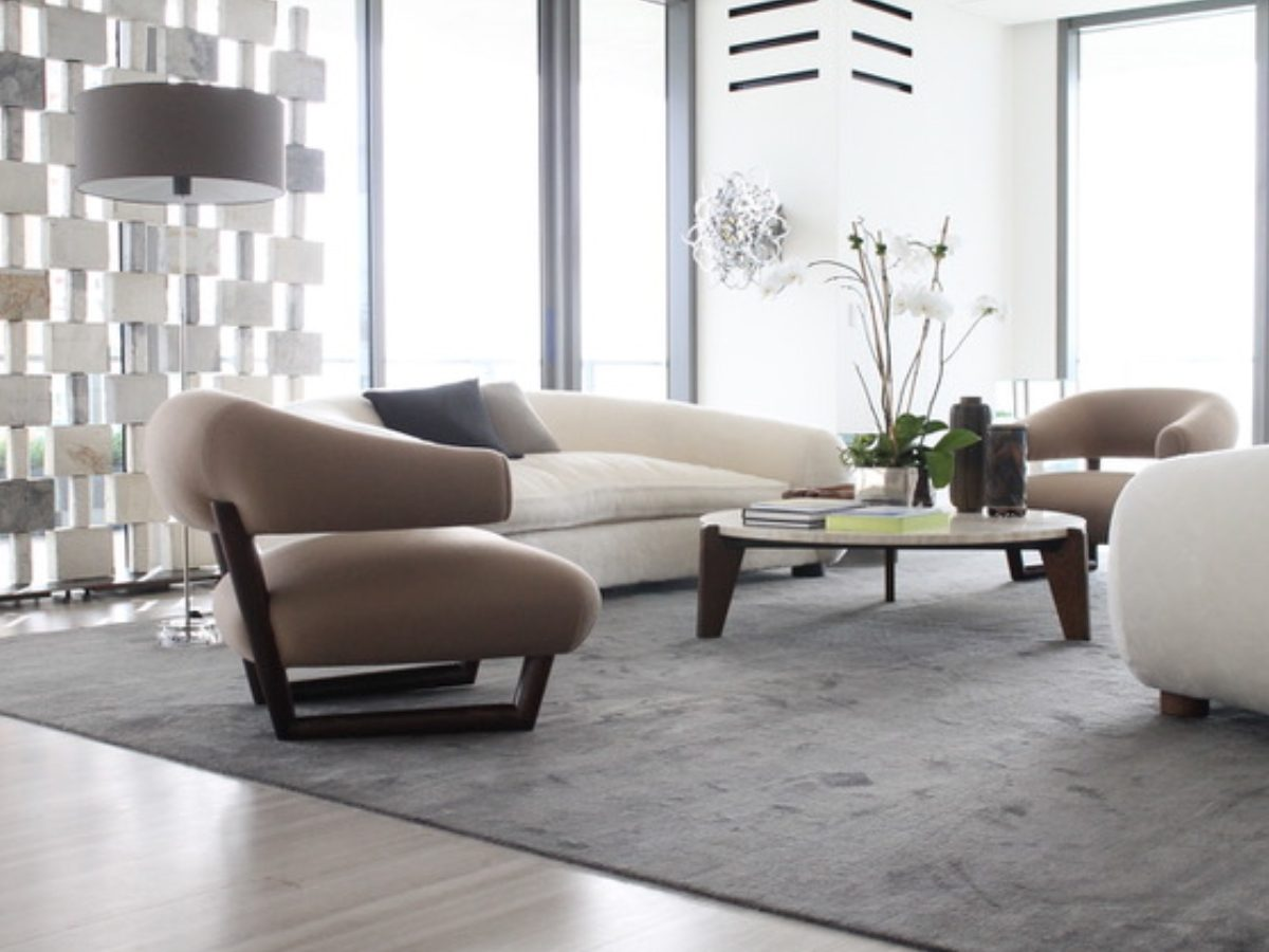 Apogee Miami residence modern living room