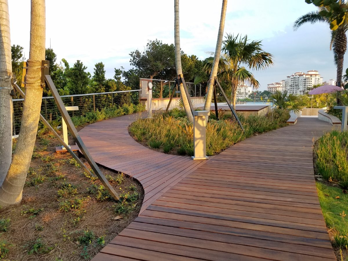 PtrBlt Miami Apogee Pool Deck detail of a fork in the winding path