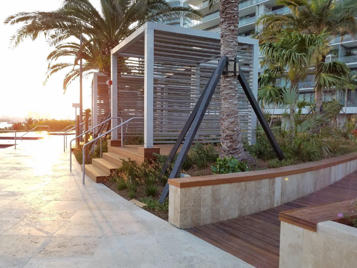 PtrBlt Miami Apogee Pool Deck metal cabana structure