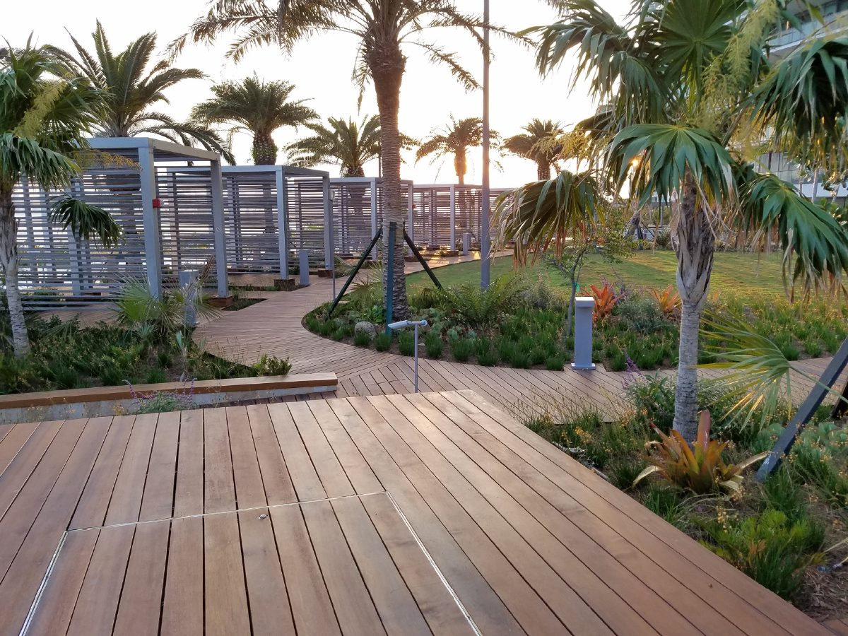 PtrBlt Miami Apogee Pool Deck and metal cabana structures