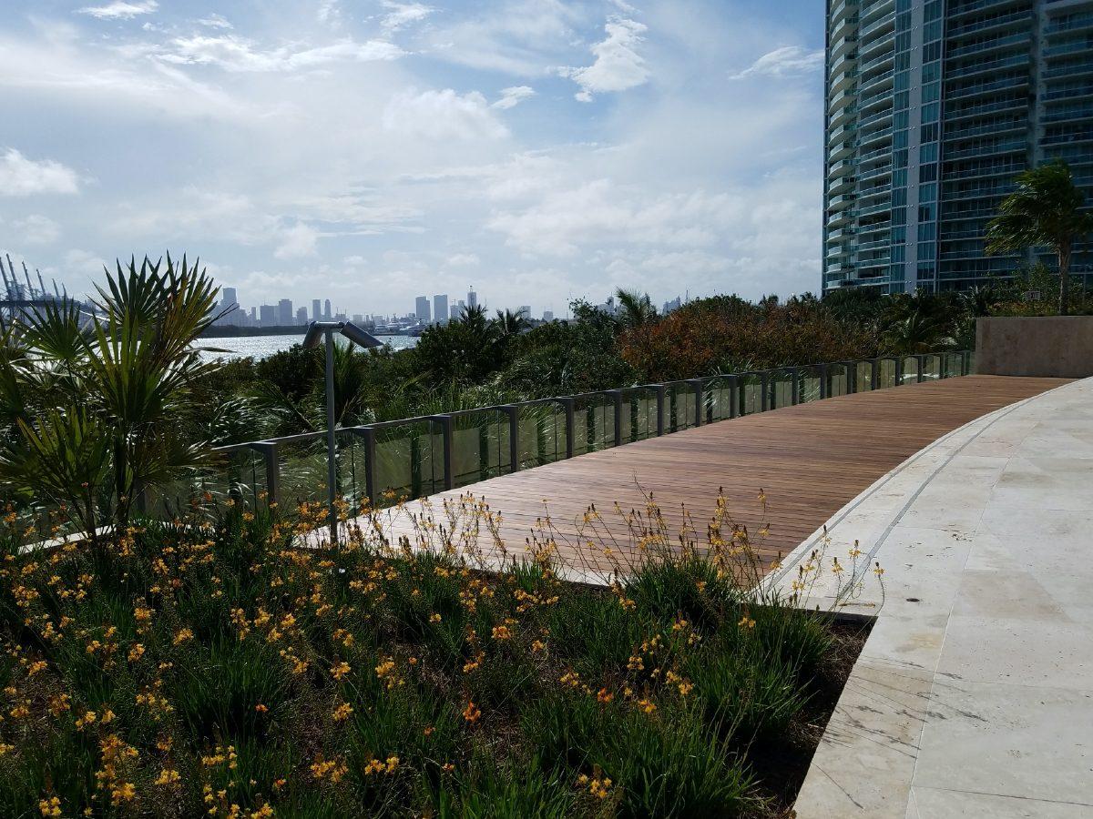 PtrBlt Miami Apogee Pool Deck with distant view of Miami