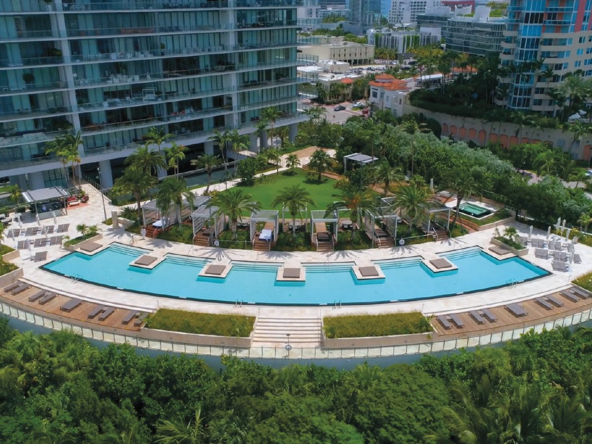 PtrBlt Miami Apogee Pool Deck view of property and pool from aboove