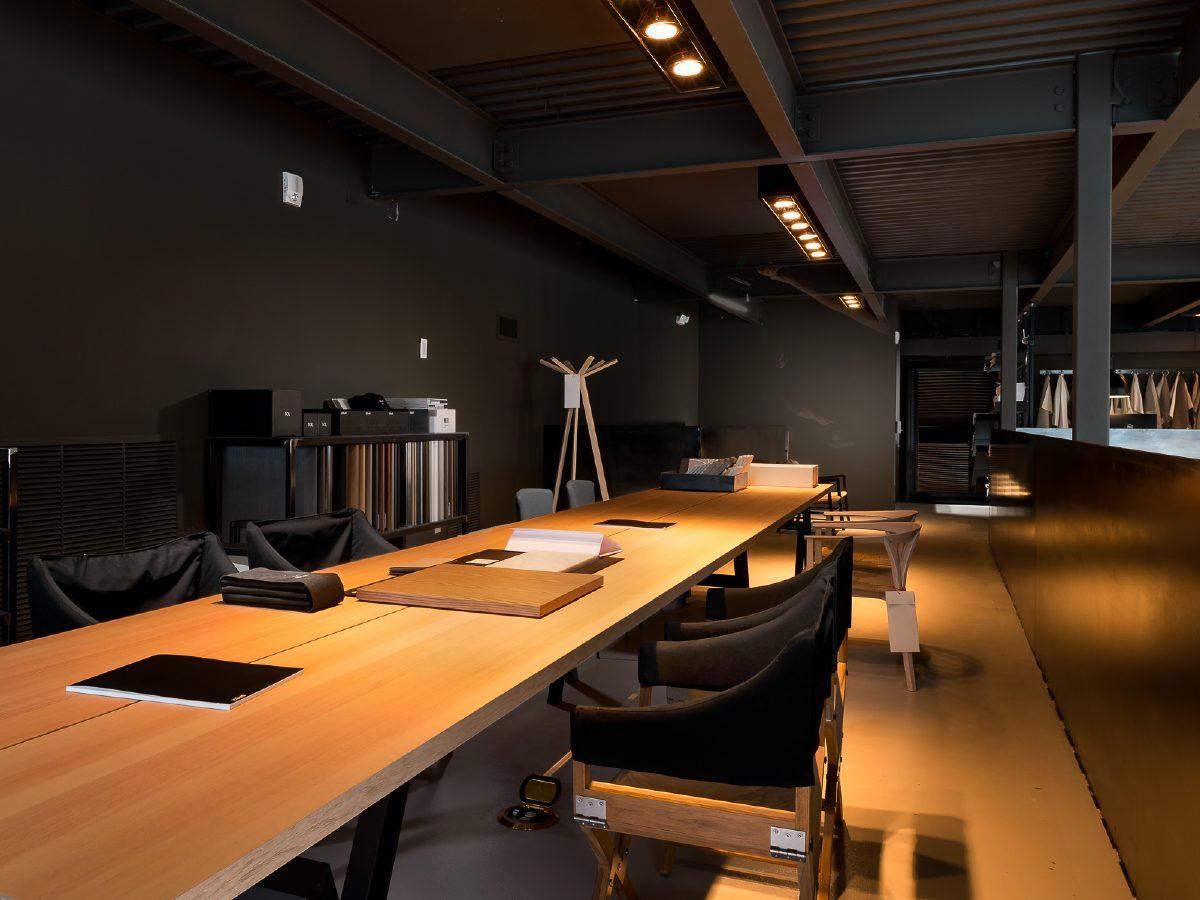 Boffi Showroom Miami long office desk