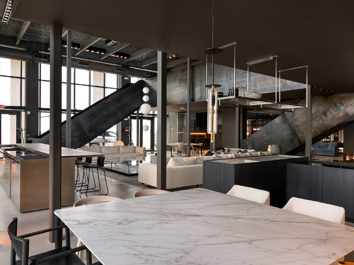 Boffi Showroom Miami lounge and tables