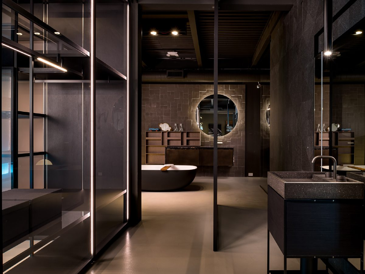 Boffi Showroom Miami perspective view of bathroom