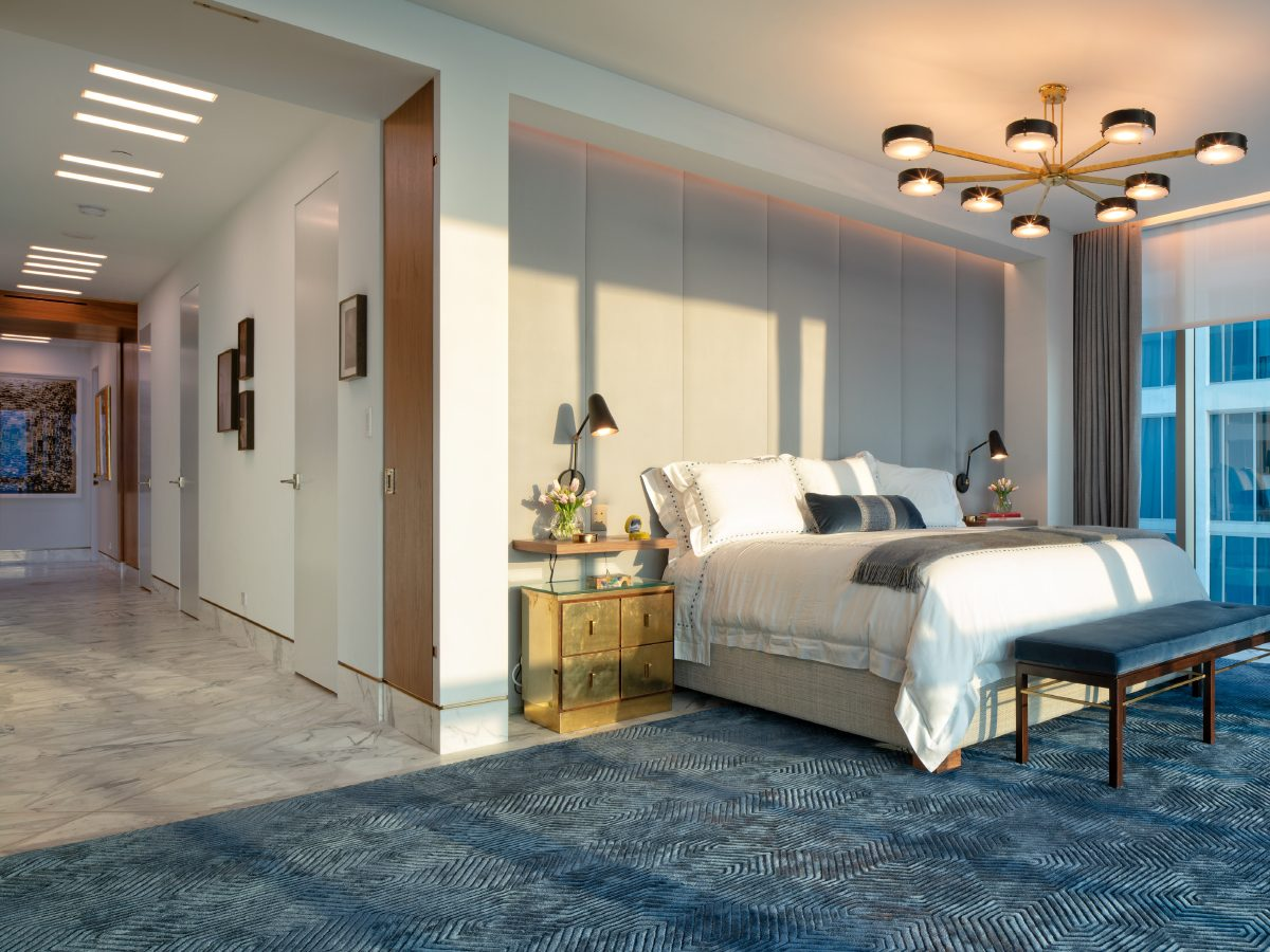 Carillon Miami residence view of bedroom and hall