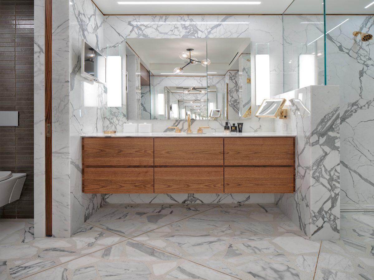 Carillon Miami residence marble bathroom vanity