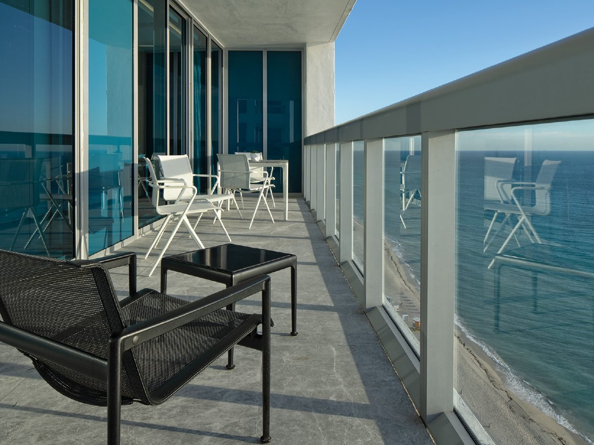 View of the ocean from Carillon Miami residence deck