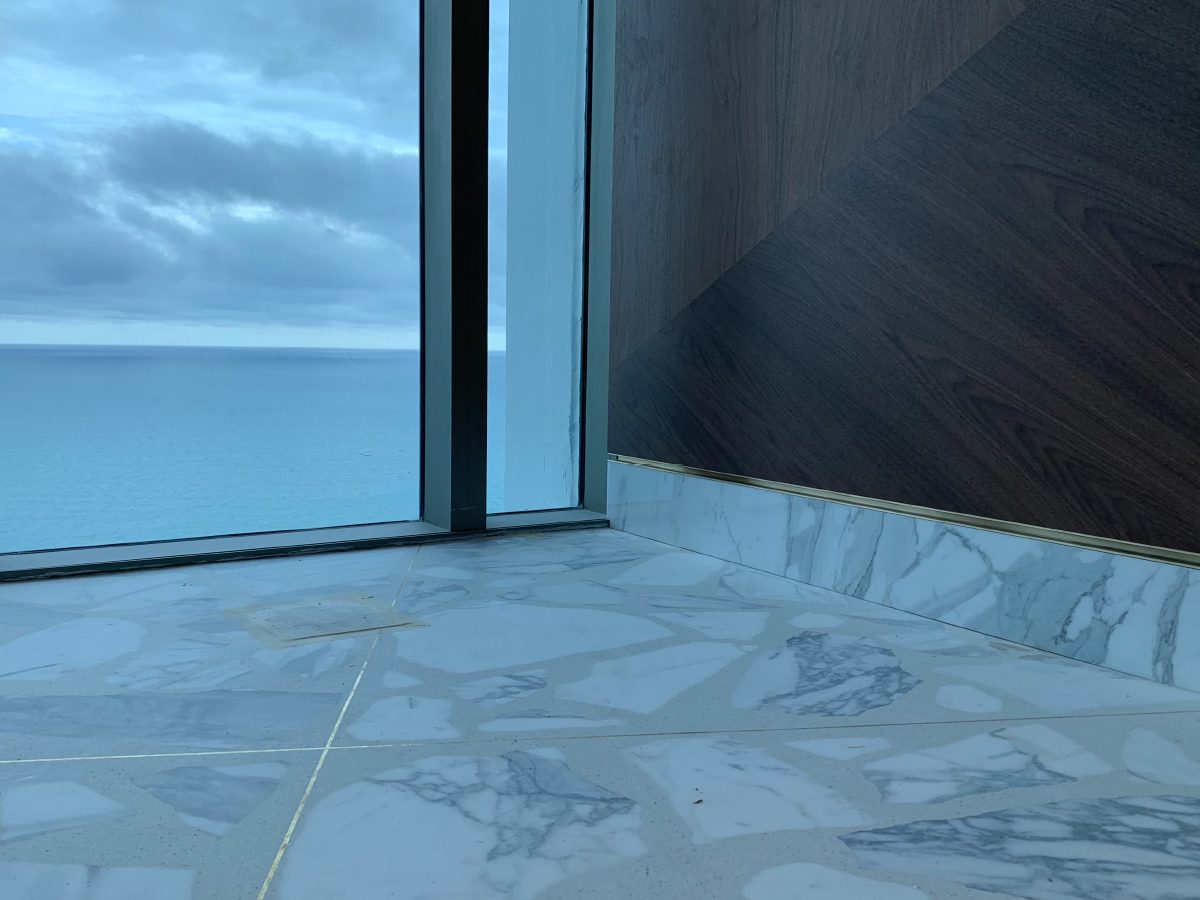 Carillon Miami marble floor detail with ocean view