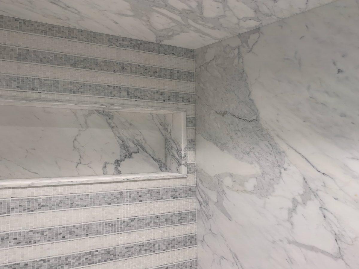 Blue Diamond Residence marble shower detail