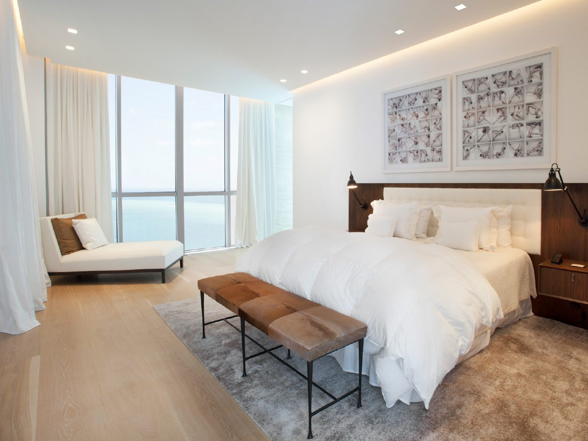 Continuum Miami Private PH Residence bedroom with ocean view