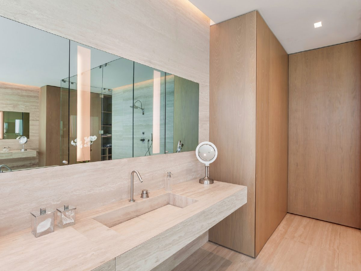 Continuum Miami Private PH Residence marble bathroom vanity