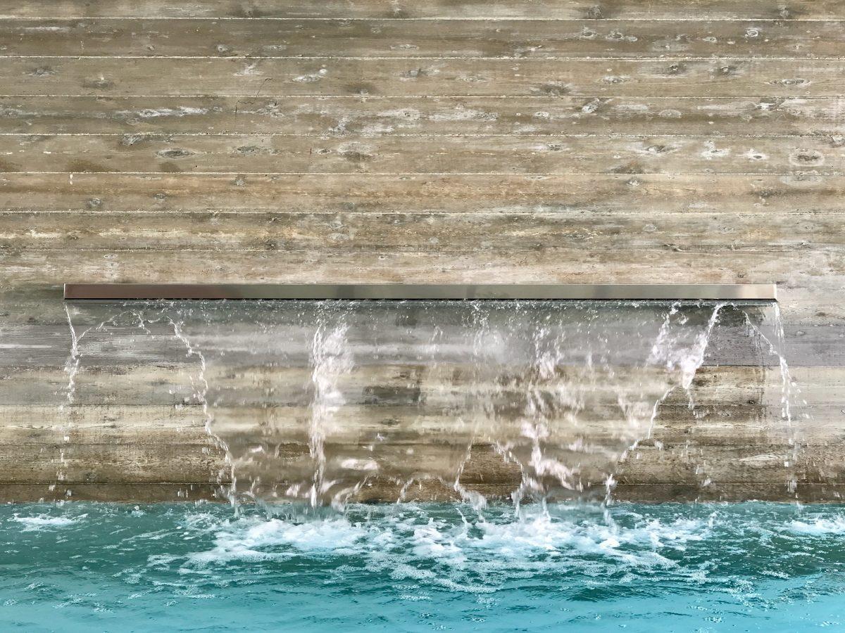 Hibiscus Island Miami residence outdoor modern fountain