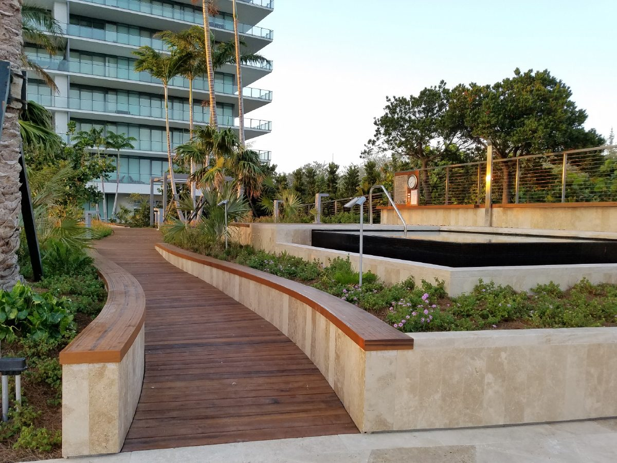 PtrBlt Miami Apogee winding Pool Deck with view of hotel