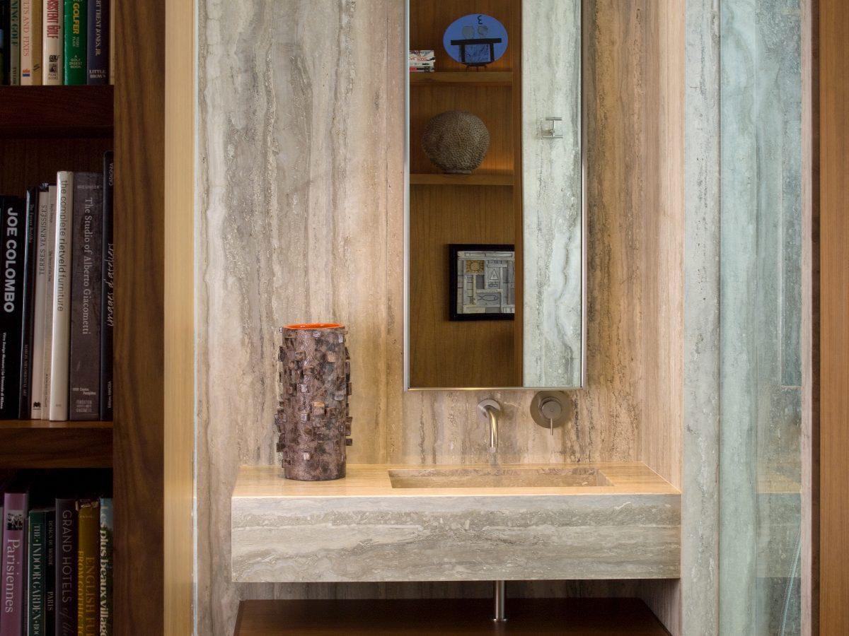 Apogee Miami residence light marble bathroom vanity