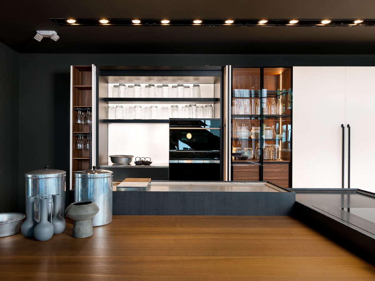 Boffi Showroom Miami inside kitchen view
