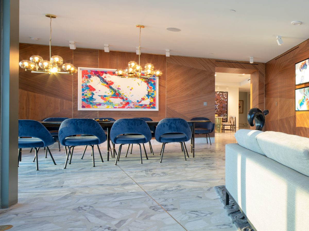 Carillon Miami residence dining room viewed from living room