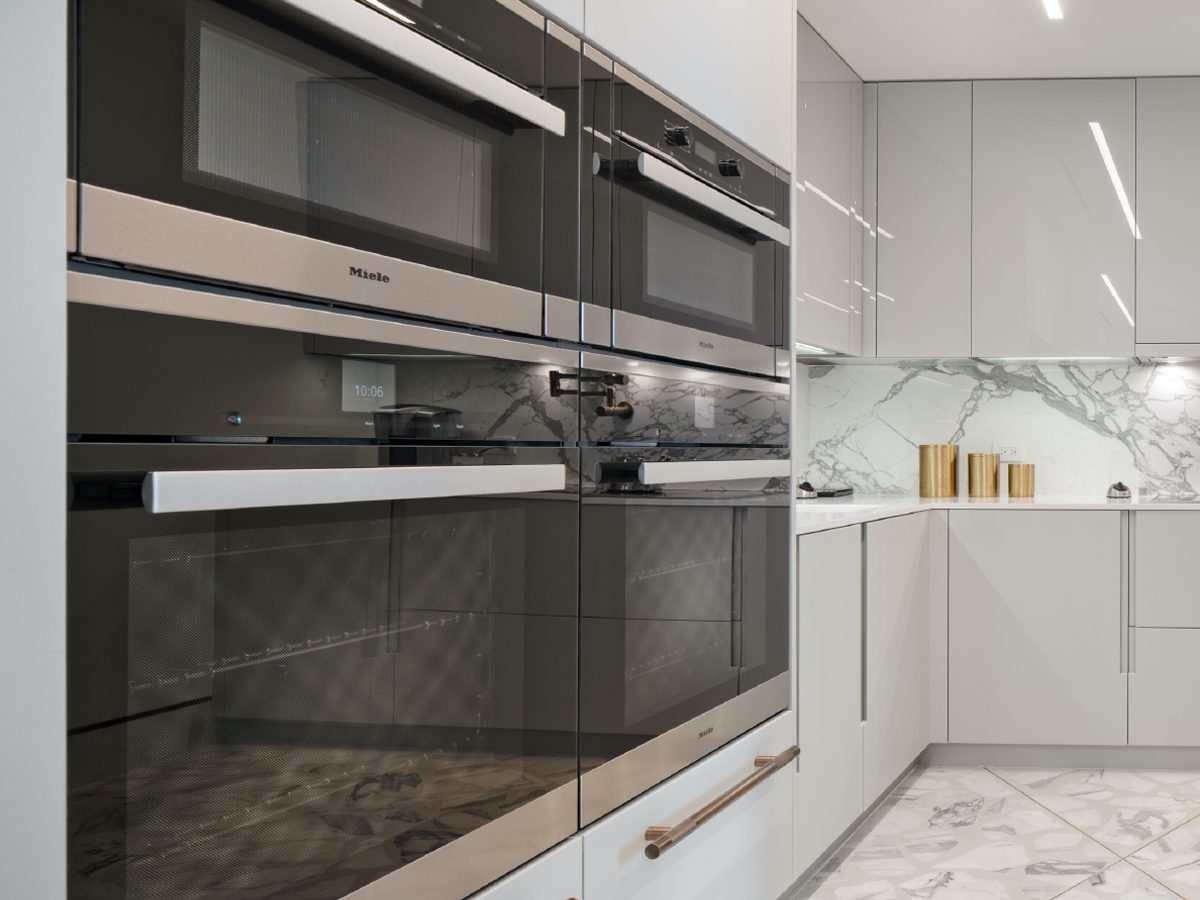 Carillon Miami residence kitchen ovens and marble counters