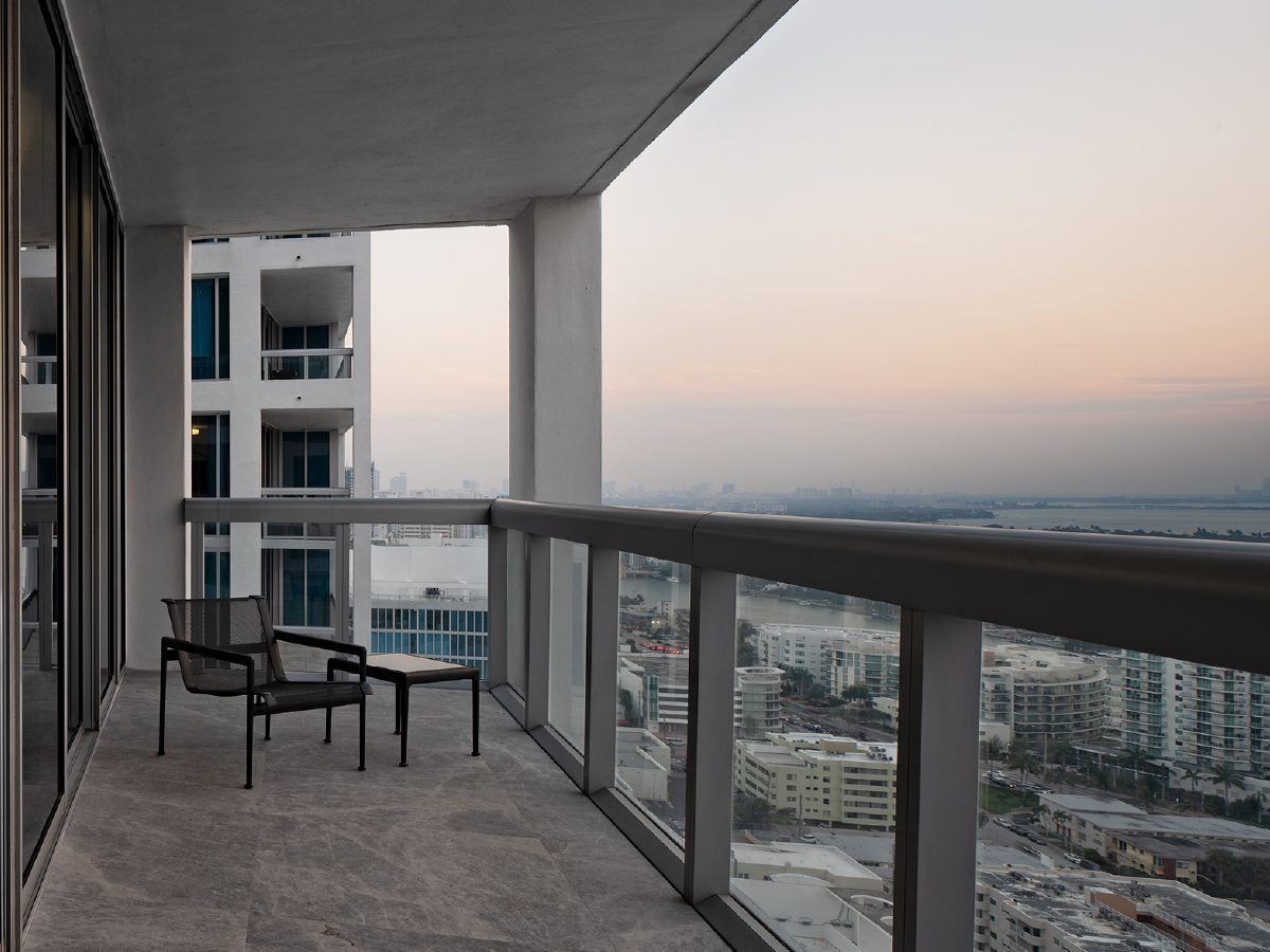View of Miami from Carillon residence