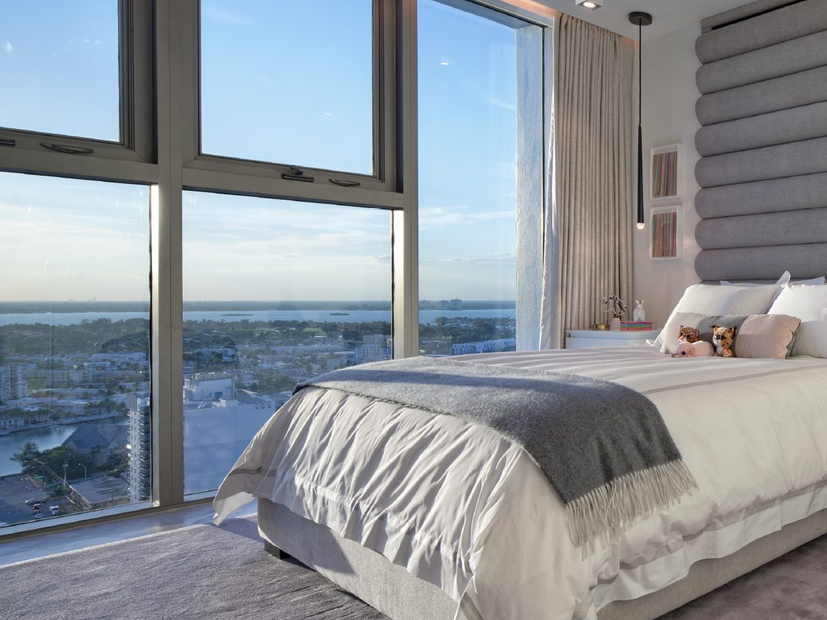 Carillon residence bedroom view of Miami