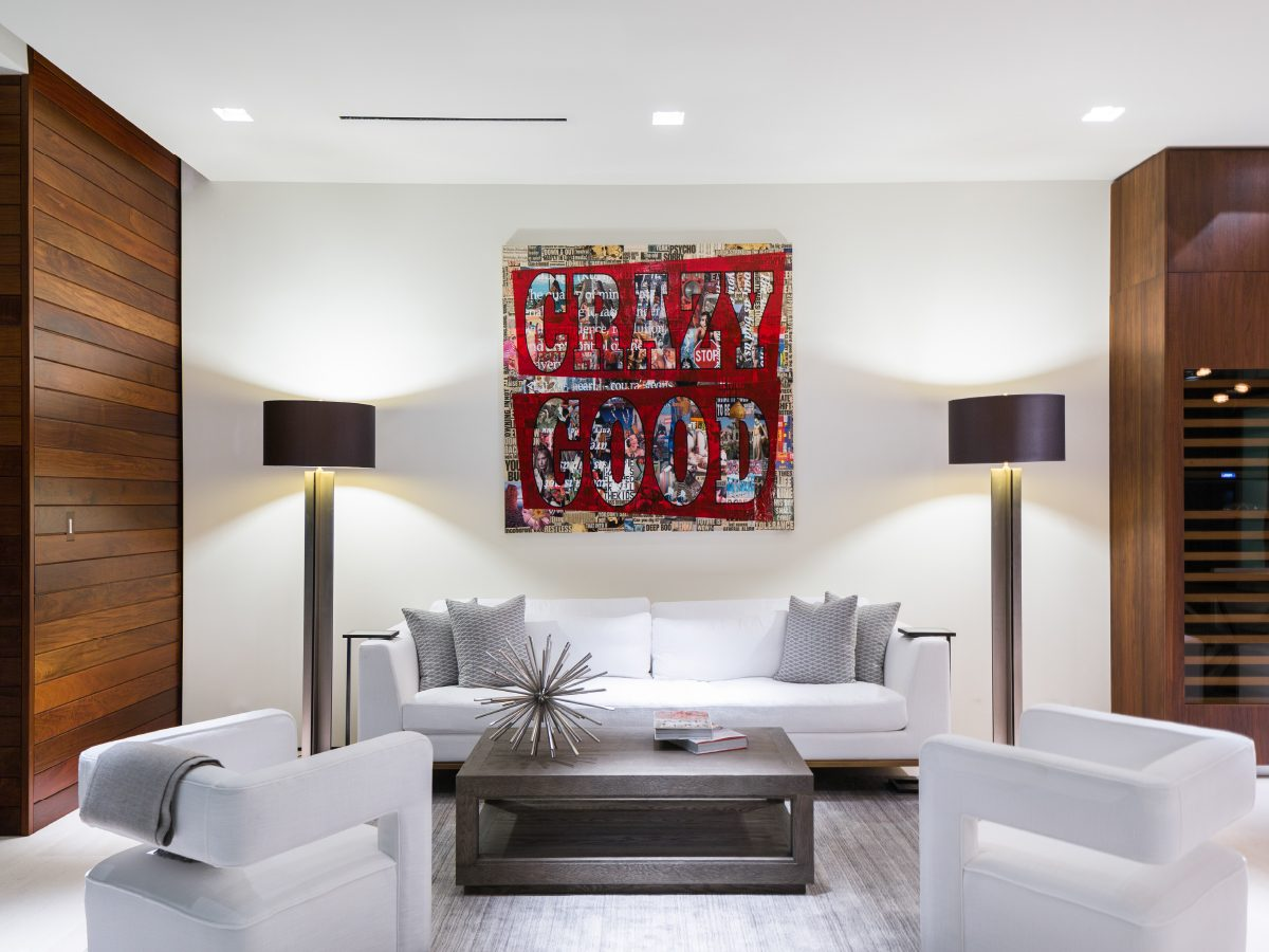 Hibiscus Island Miami residence living room